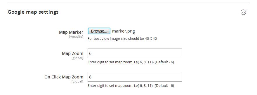 Google map additional settings