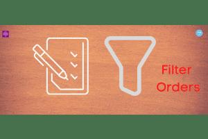 Filter orders in Opencart ecommerce website