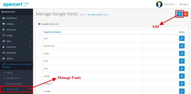 1 google font