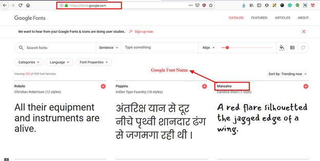2 google font
