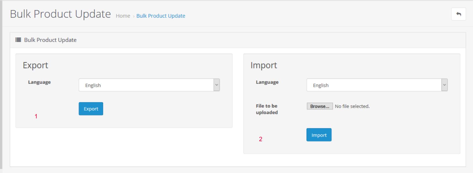 bulk product update