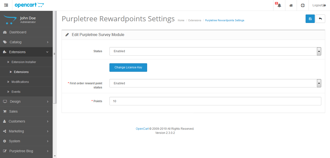3 opencart reward