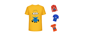 How to design a sample custom t-shirt by Product Designer module