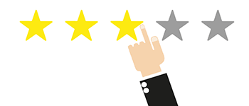 How can customer give review & rating to sellers ?