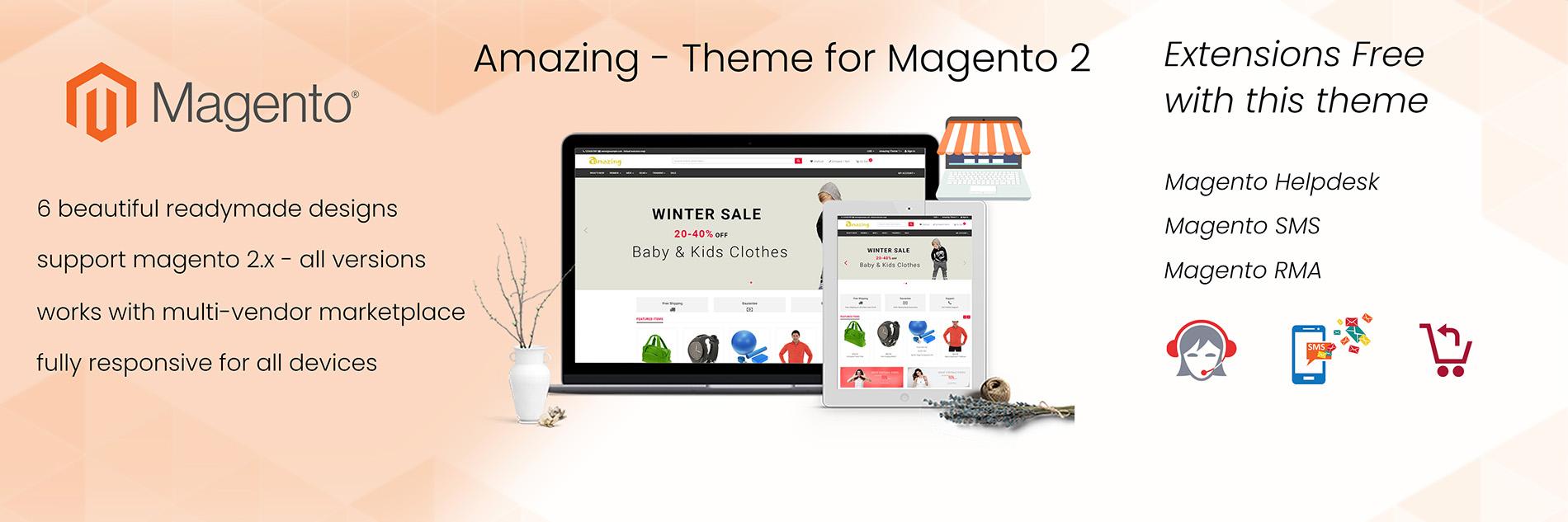 Amazon like theme for magento 2