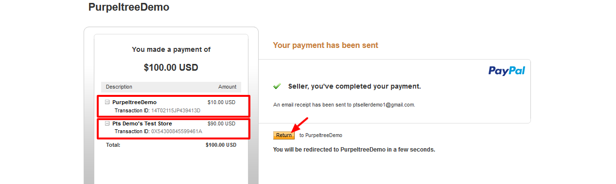 PayPal Adaptive payments in Opencart Purpletree Multivendor